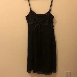 Coldwater Creek Black Sequined top Dress